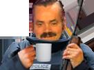 Sticker police gilbert cafe fusil