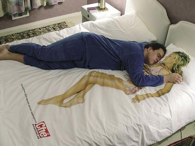 Sticker dormir seul amie imaginaire ami faux oreiller puceau kikoo jap kawai lit coussin copine petite