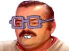 Sticker puceau victime moche gros binocle lunette bigleux myope celestin saturnin firmin intellos dent