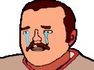 Sticker risitas pleure larmes pls triste eco plus dessin