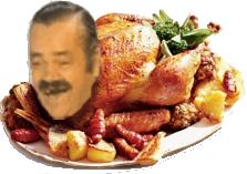 Sticker dinde poulet issou chancla cuisine repas noel noel fetes poule coq plat