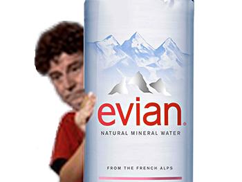 Sticker source evian jesus cristalinne eau bouteille