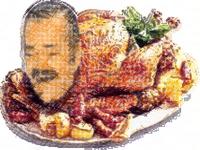 Sticker dinde dessin poulet canard laque famille repas noel noel fetes celestin malaise tas une copine