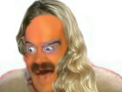Sticker risitas blonde yeux femme