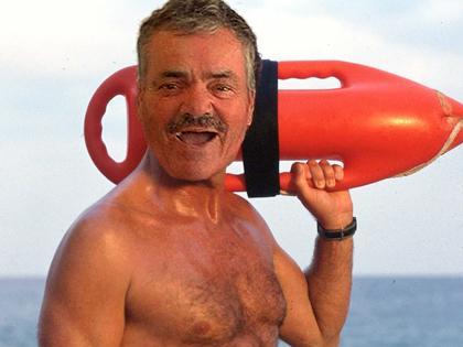Sticker alerte a malibu sauveteur des plages mers beau gosse bg muscle go muscu piscine plage beach cool tranquille