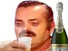 Sticker champagne nouvel an