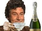 Sticker nouvel an tasse champagne