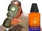 Sticker scorpio parfum masque a gaz