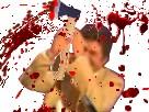 Sticker jesus meurtre sang hache