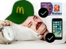 Sticker risitas esclave issou mcdo reveil sommeil dodo reveil mcdonalds