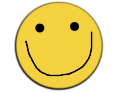 Sticker smiley sourire eco