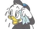 Sticker fifi en sueur mouchoir donald