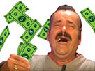 Sticker risitas money argent fric oseille billets pieces dollar rire crapuleux youtube yt