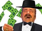 Sticker risitas smoking dollars argent money youtube yt