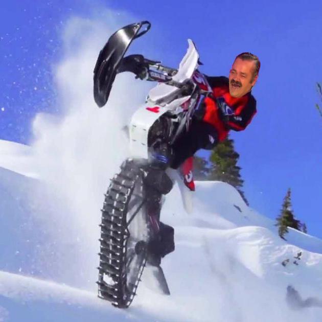 Sticker risitas cabrer en y en y moto neige moto neige motoneige cabre jul electronegro risita hiver froid