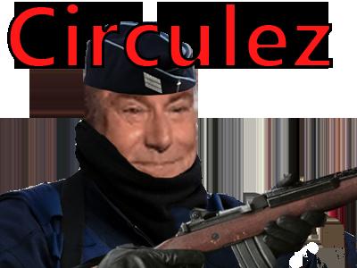 Sticker gilbert police fusil crs circulez agentfisher