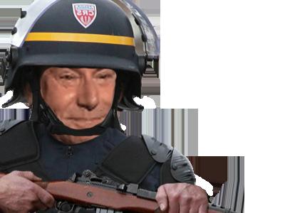 Sticker gilbert police fusil crs agentfisher
