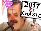 Sticker 2017 chaste puceau saint nouvel ans 2016 2018 2019 fete happy croix jesus