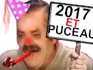 Sticker puceau 2017 et puceau fete nouvel ans