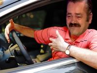 Sticker voiture fou furieux emmerdeur rigolo chauffard volant frein