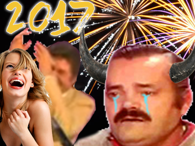 Sticker risitas cocu nouvel an 2017