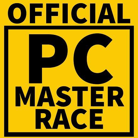 Sticker pc master race maitre course superior alpha champion winner riche
