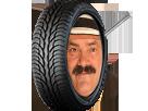 Sticker risitas roue pneu clou michelin increvable crevable creve