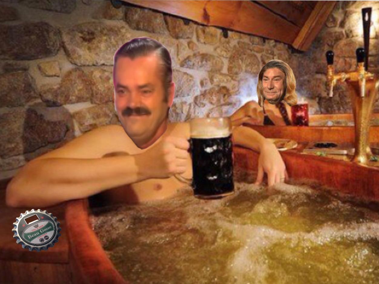 Sticker bain biere risitas jesus fille alcool beauf luxe