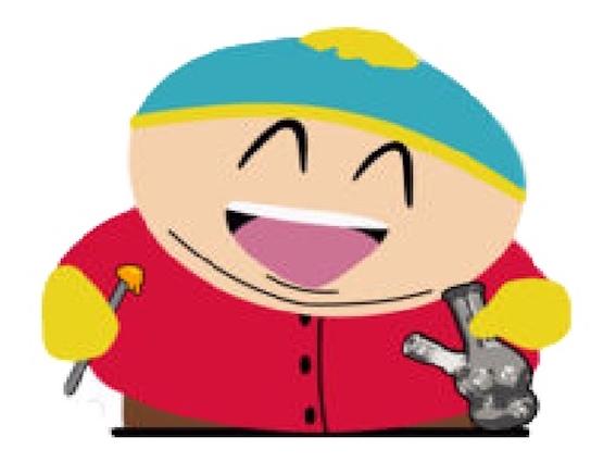 Sticker southpark cartman sourire