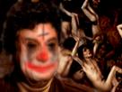 Sticker psychopathe demon possesion hante jesus diabolique diable satan lucifer sheitan clown tueur horrible moche