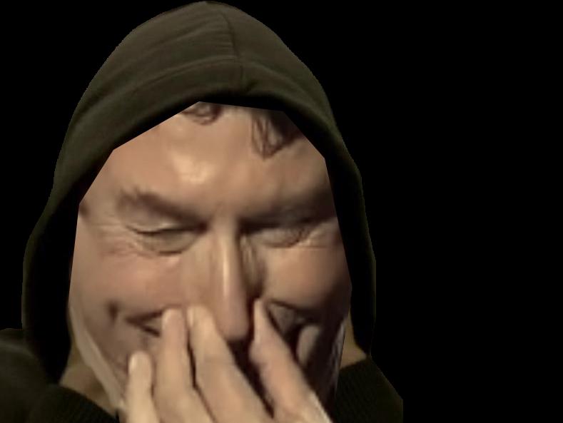 Sticker hacker capuche noire pouffer nez rire souffler du nez vpn proxy avast norton