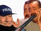 Sticker fusil arme gilbert police conde poulet risitas jesus celestin