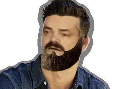 Sticker beubar charclo barbe hipster beau gosse bg undercut