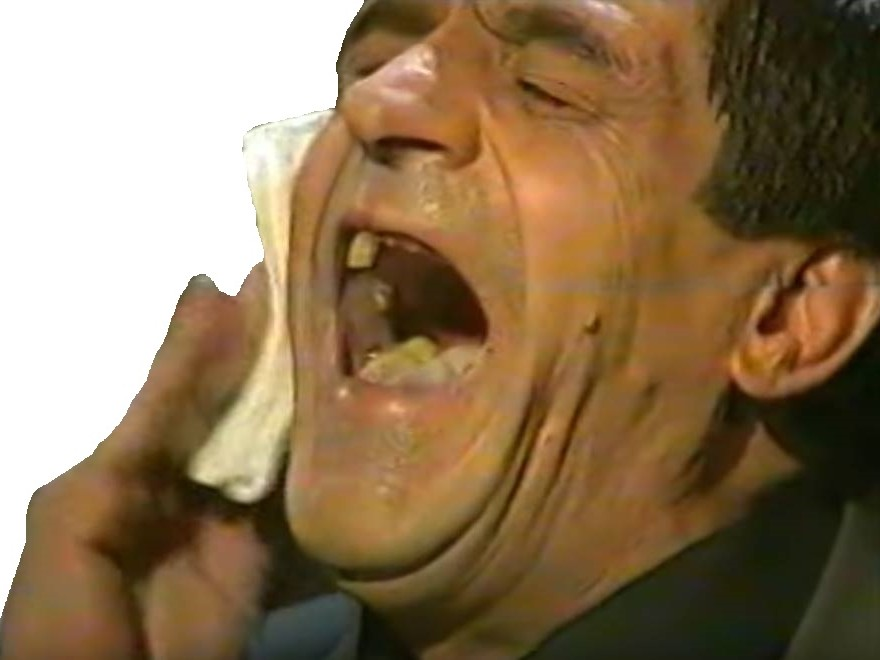 Sticker goudja rire dent mouchoir
