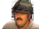 Sticker risitas militaire casque