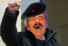 Sticker gauche gaucho revolution poing poing leve