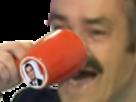 Sticker philippot risitas tasse rouge
