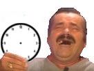 Sticker risitas rire montre