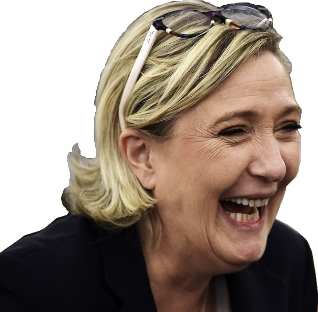 Sticker marine lepen rire troll politique fn facho mlp