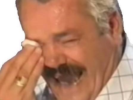 Sticker risitas larmes mouchoir pleure rire