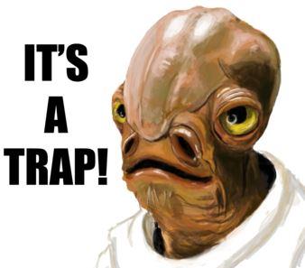 Sticker trap starwars piege admiral ackbar