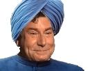 Sticker jesus turban indien hindou bleu chapeau