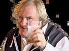 Sticker depardieu alcool verre