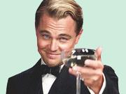 Sticker dicaprio titanic tasse vin boire