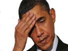 Sticker obama main sueur stress facepalm