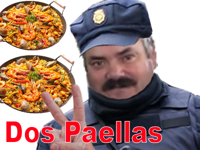 Sticker 2 paellas sucres police espagne gilbert 6h