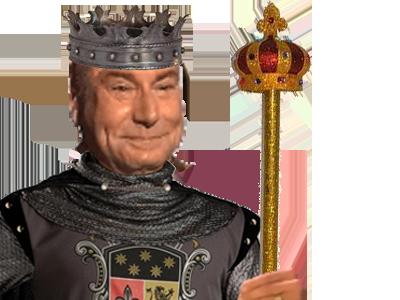 Sticker jesus medieval roi sceptre