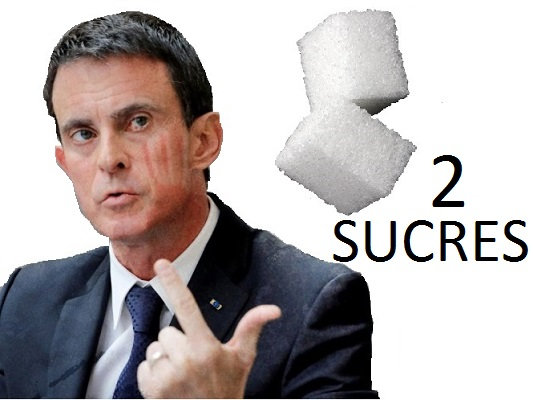 Sticker valls 2 sucres politique