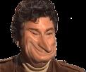Sticker jesus caricature drole monstre sourire content juif long nez