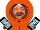 Sticker kenny south park iphone 7 prolo prolix clochard 6euro